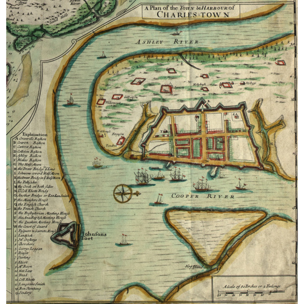Early Map Cooper River Charleston SC
