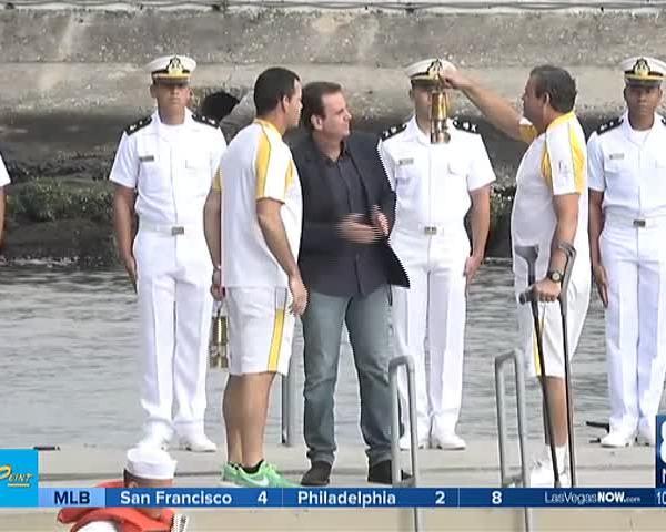 Torch arrives in Rio De Janiero- Phelps on returning_36923034-159532