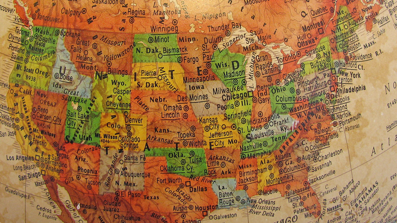 United States map, USA map, America43556248-159532
