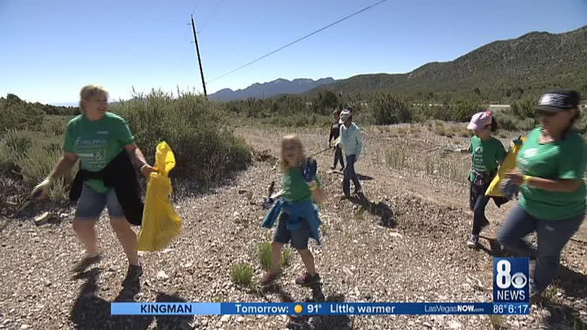 Volunteers cleanup 9,500 lbs. of trash on Mt. Charleston
