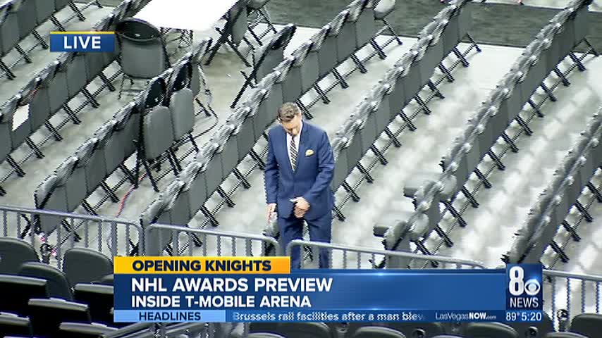 Opening Knights Brian Loftus Busts A Move At T Mobile Arena