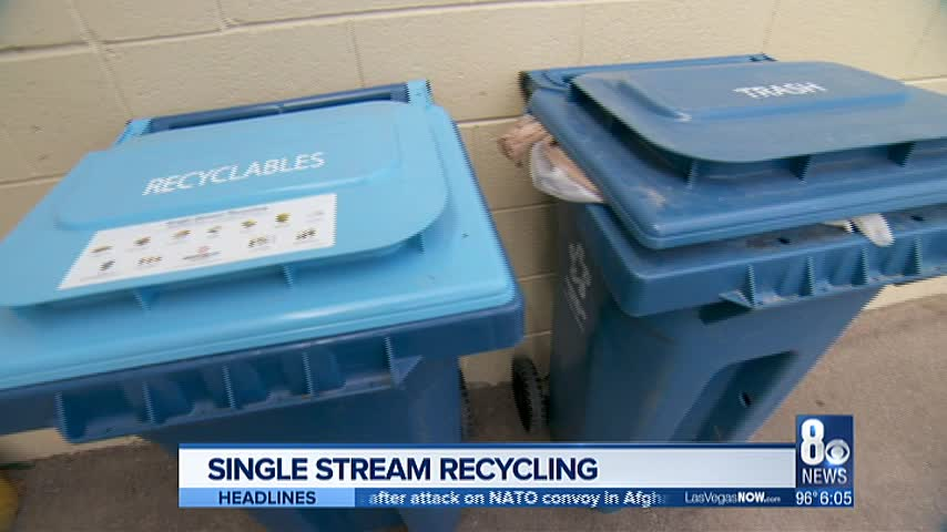 Las Vegas switches over to single stream recycling: Here's