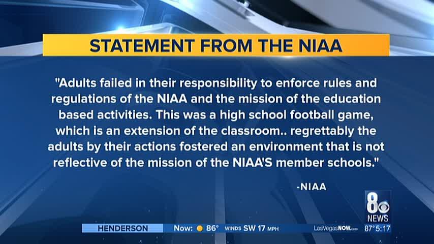 Basic and Canyon Springs high school football teams slapped_73612674