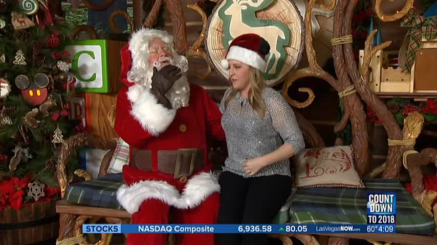 Santa makes a visit to Disney