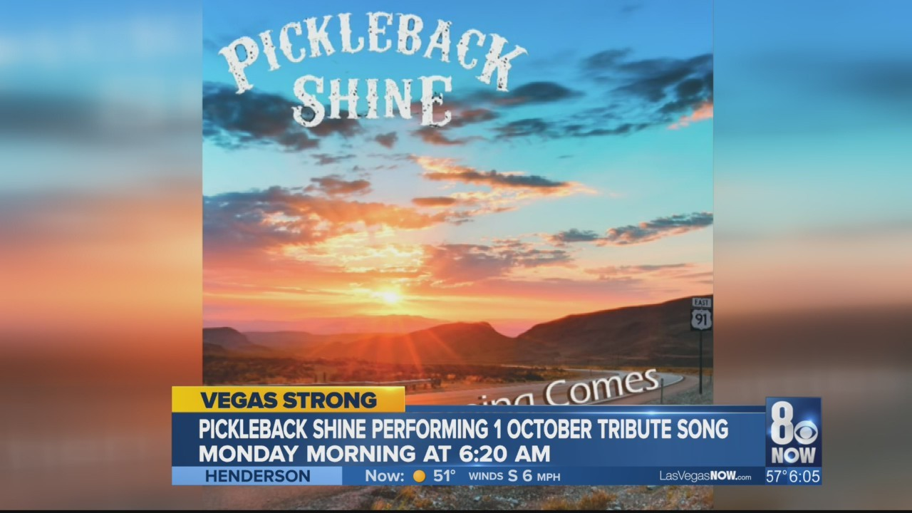 Pickleback Shine's #1october survivors tribute song TEASER FOR MONDAY 8NewsNow appearance