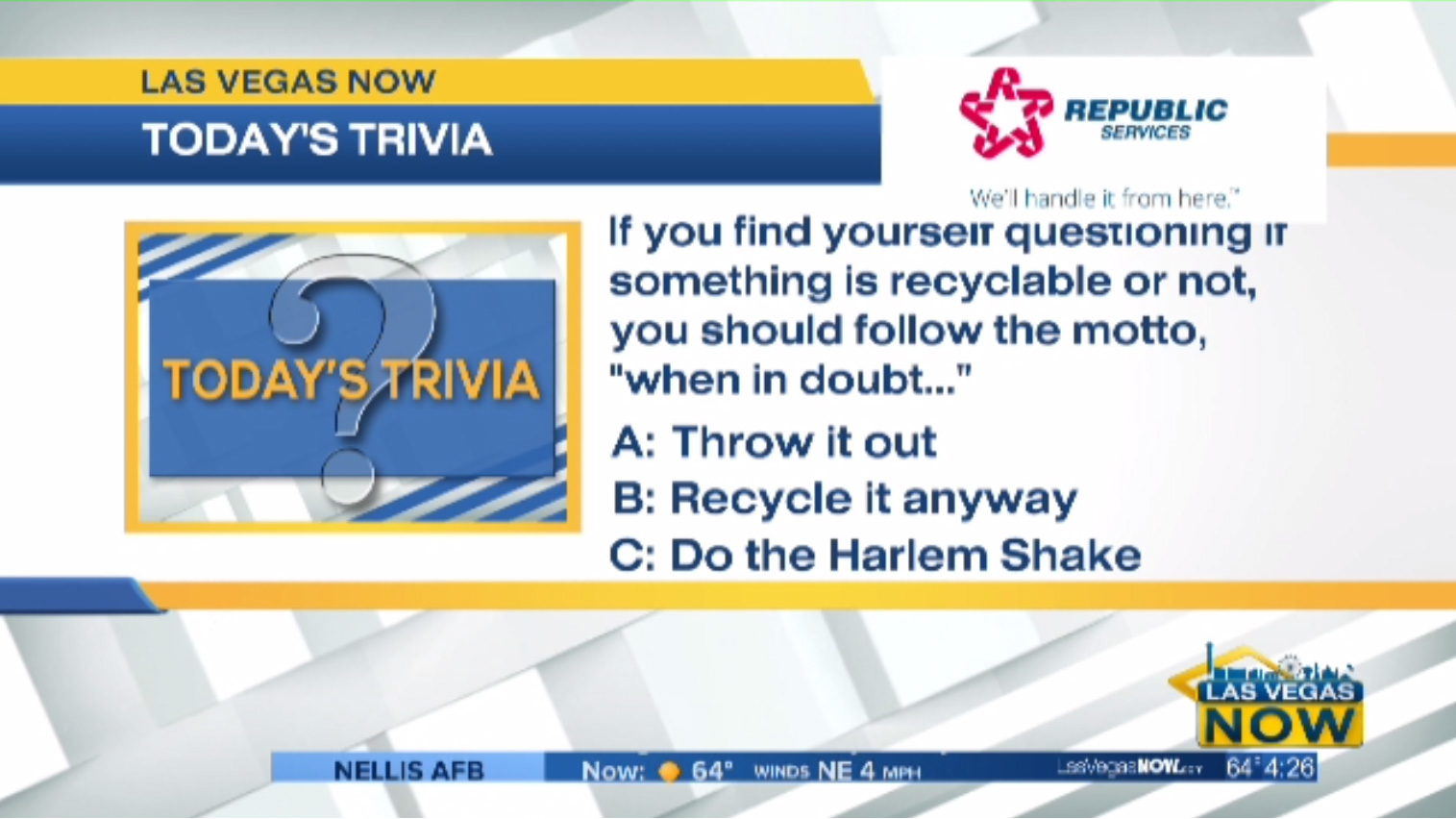 Questioning whether something is recyclable or not?