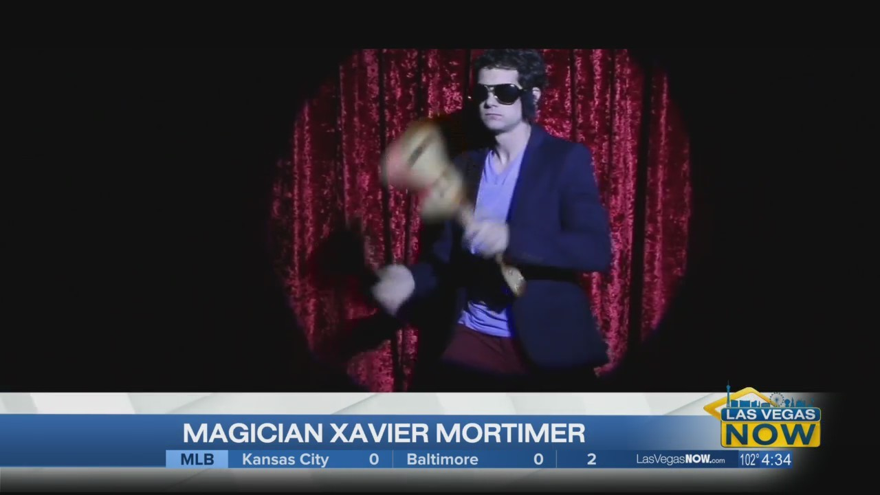 Magician Xavier Mortimer performs at LVN