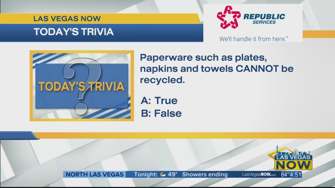 T or F Paperware cannot be recycled