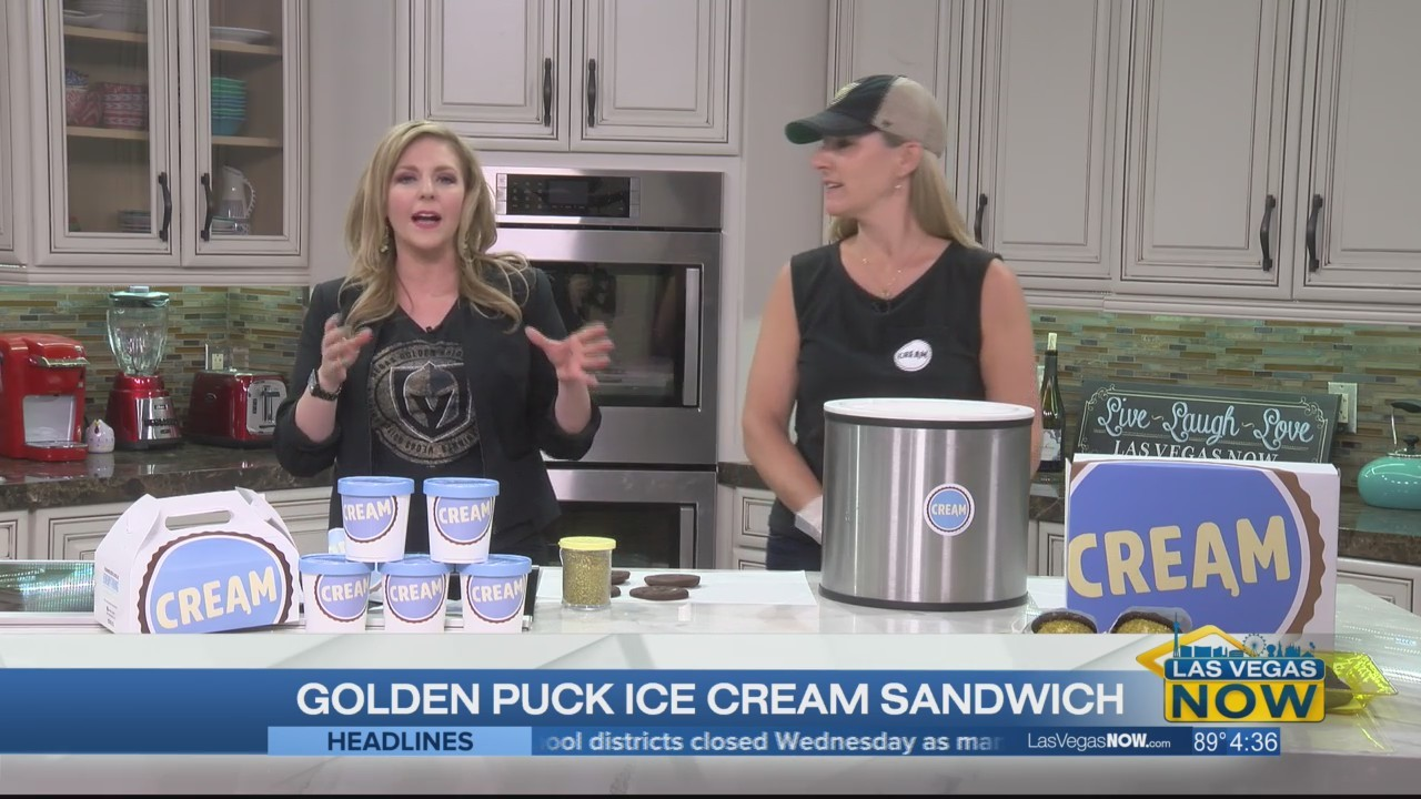 The Golden Puck Ice Cream Sandwich honoring our boys