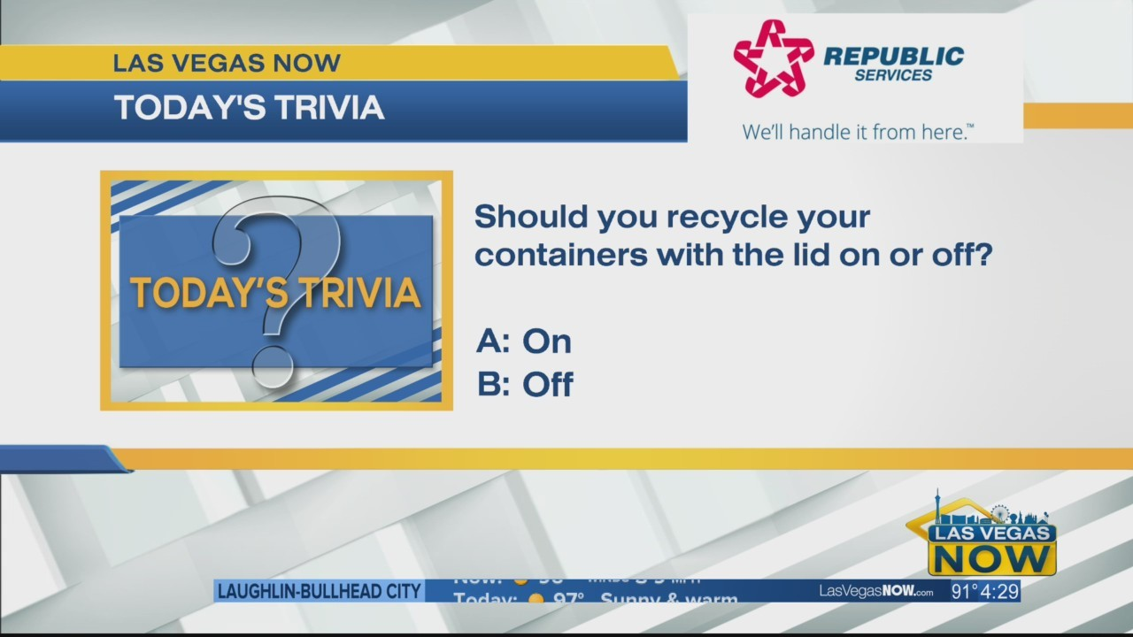 Should you recycle containers w/the lid on or off?