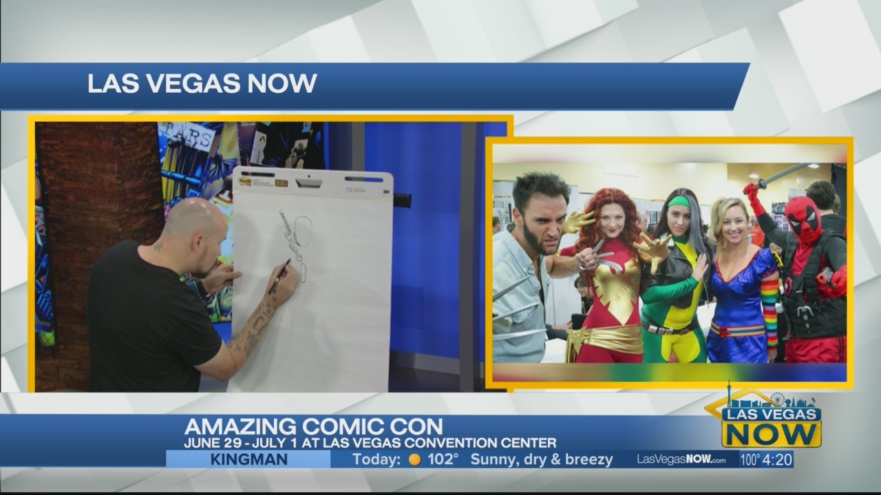Amazing comic con is happening at the convention center