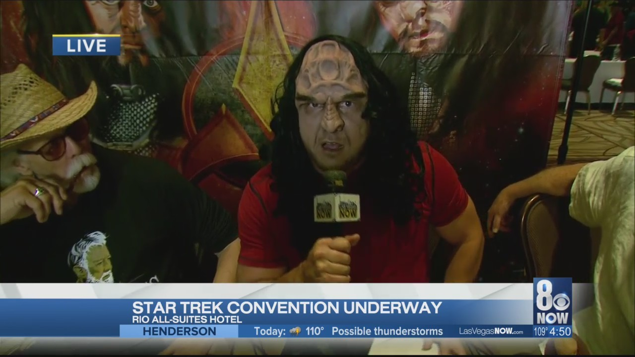 Kendall reveals his Klingon transformation