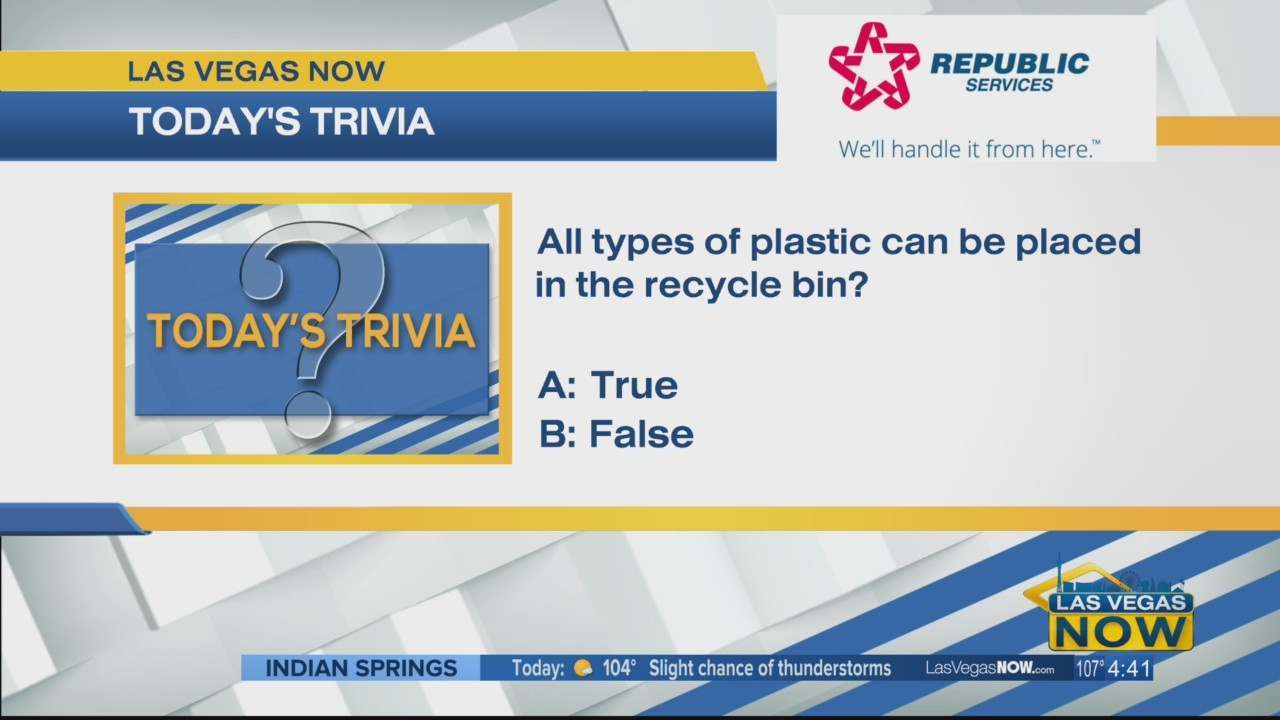 T or F all types of plastic can be recycled