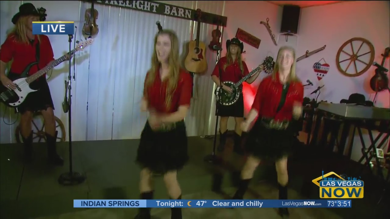 Mama's Wranglers give Courtney a few clogging tips
