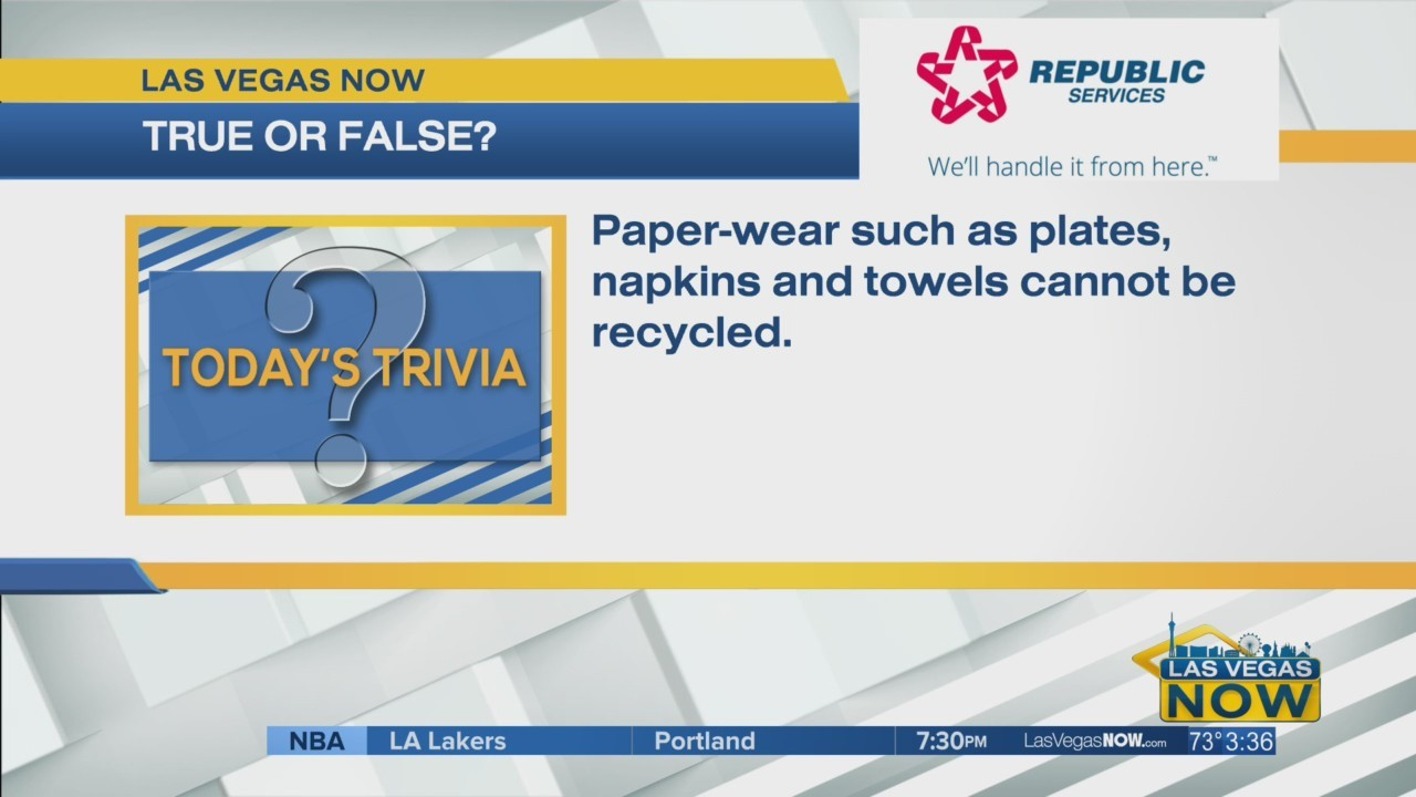 T or F paper-wear cannot be recycled