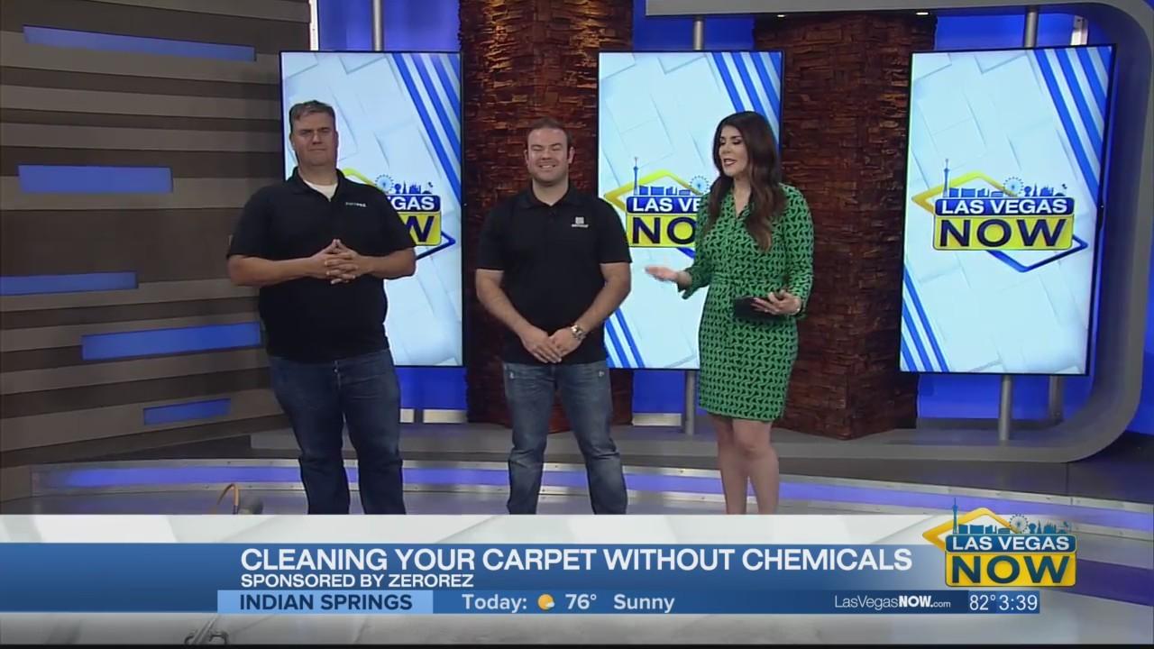 Zerorez cleans carpet without chemicals