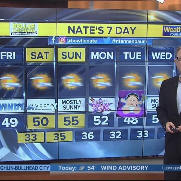 Nate's 7-Day Forecast - Fri. morning, Dec. 28, 2018