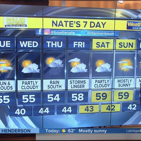 Nate's 7-Day Forecast - Tuesday Morning, Dec. 4, 2018