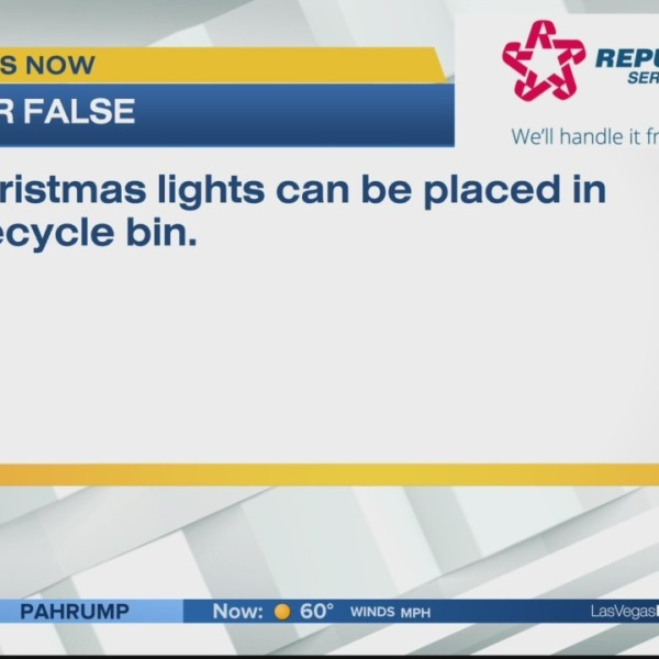 Can Christmas lights be placed in the recycle bin?