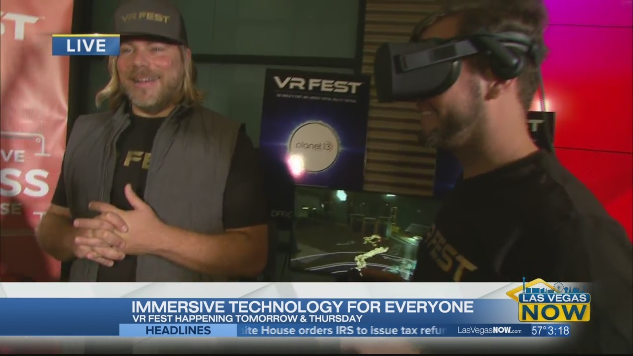 Courtney checks out the virtual reality fest at Planet 13