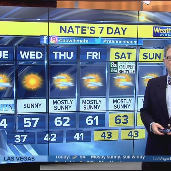 Nate's 7-Day Forecast for Tuesday, Jan. 22