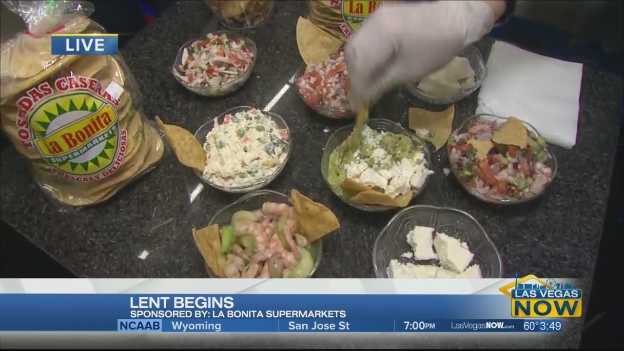 Taste testing La Bonita seafood dishes
