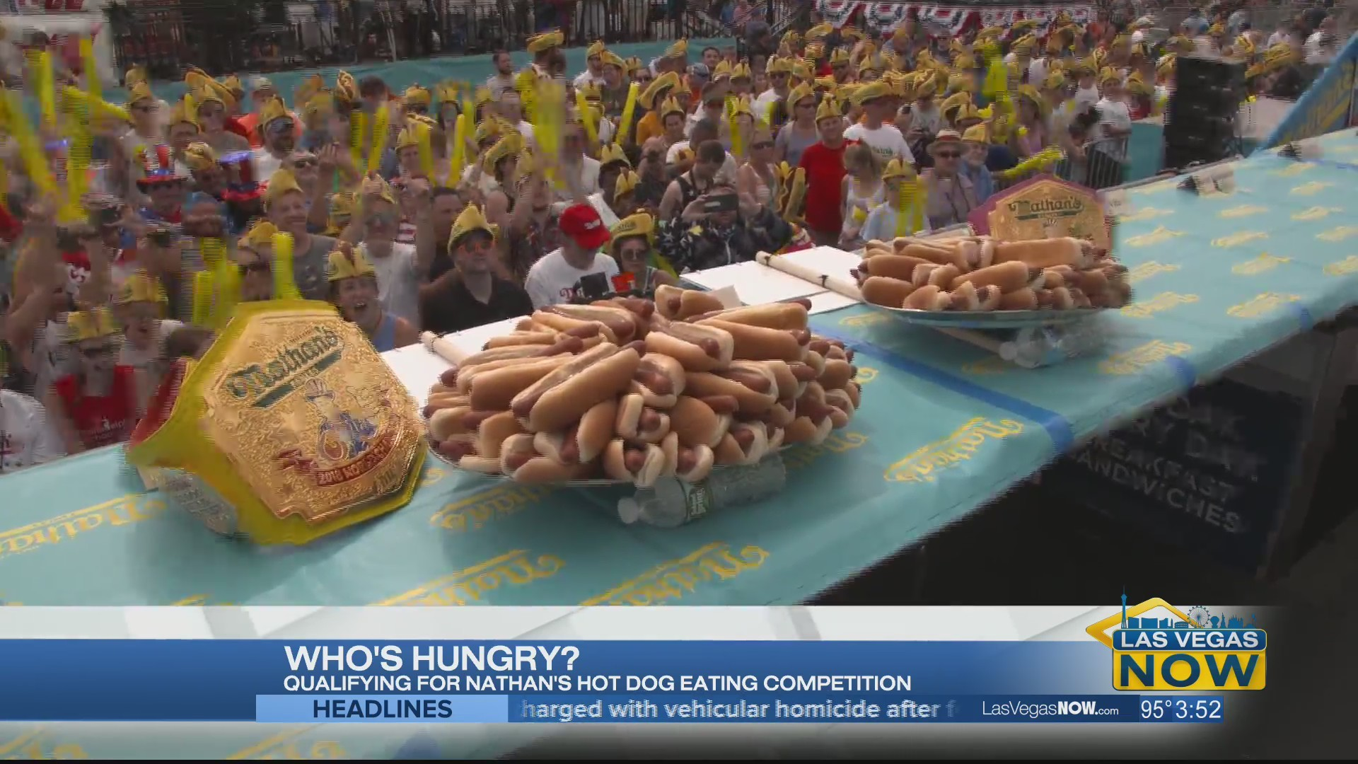 Qualifying for Nathan's Hot Dog Eating Competition