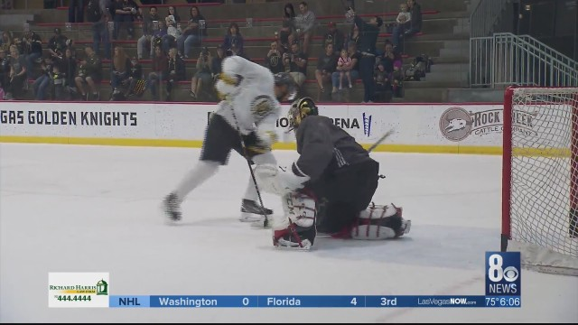 With NHL Playoffs looming, Fleury returns to Golden Knights practice