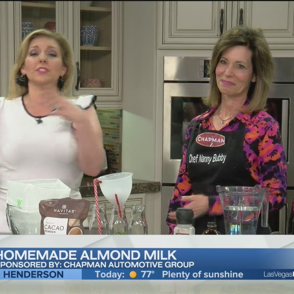 Homemade almond milk with Chef Nanny Bubby