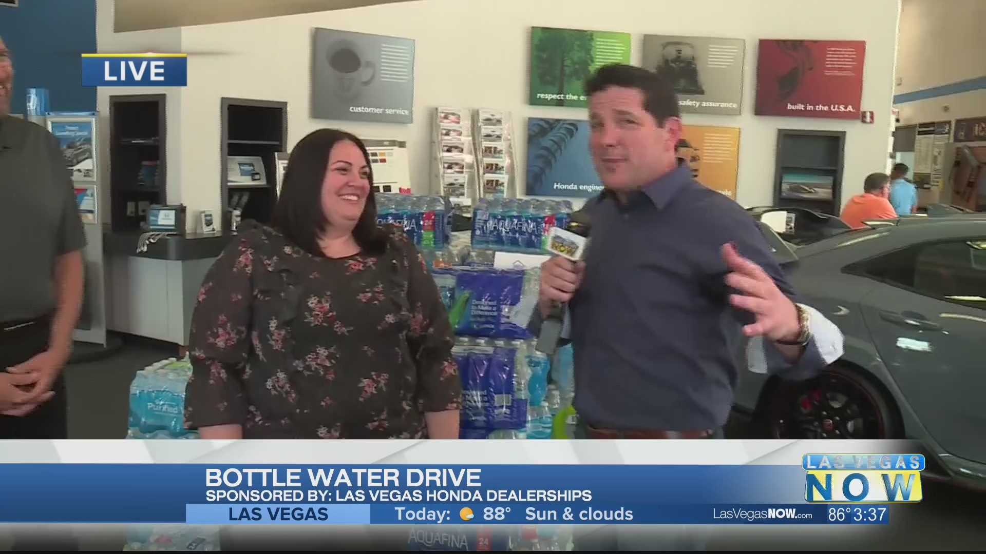Las Vegas Honda Dealers are getting water to those in need