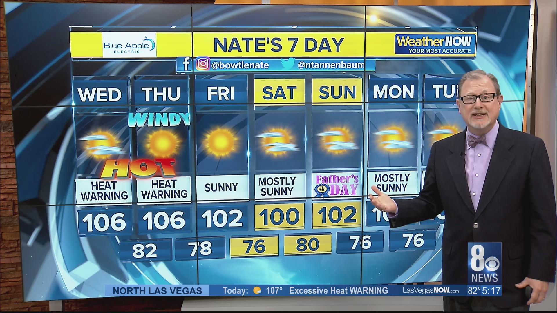 Nate's 7-Day Forecast - Wednesday, june 12, 2019