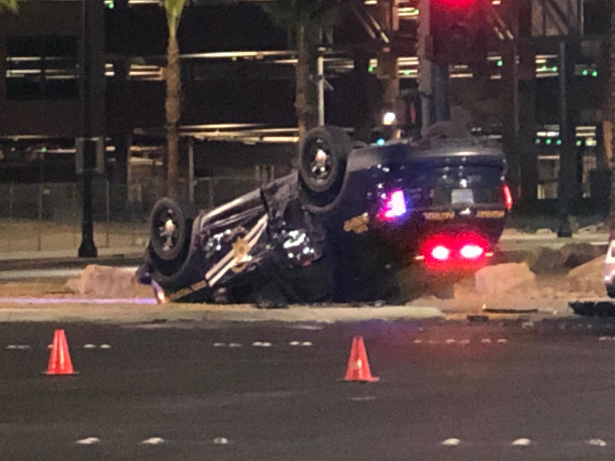 NHP trooper involved in rollover crash | KLAS - 8 News Now