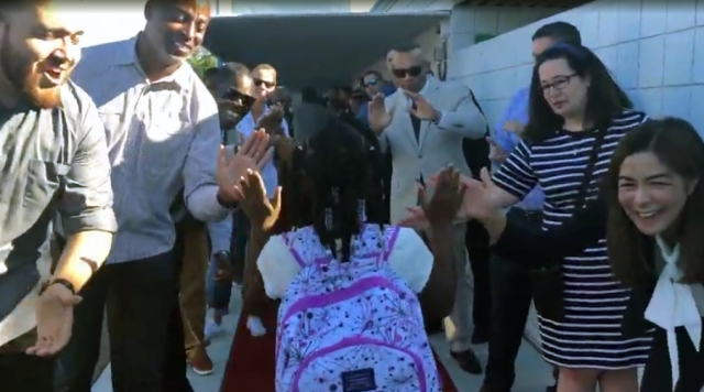 Back to school: Red carpet treatment for students