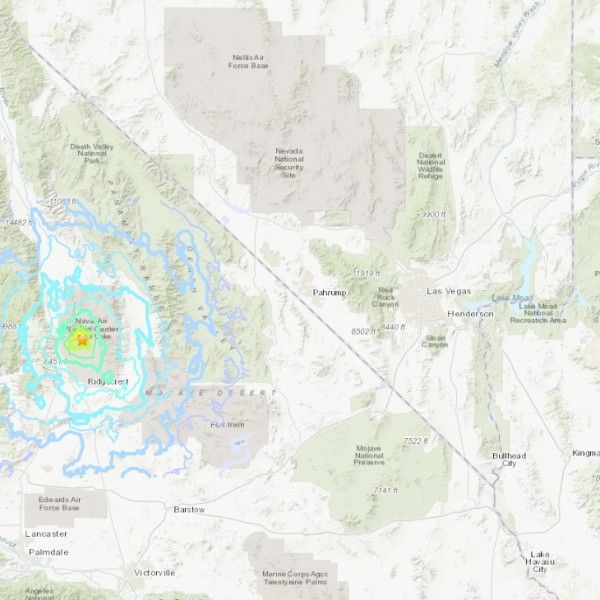 Map Earthquake Near Ridgecrest