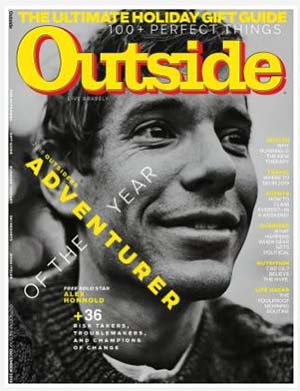 Outside Magazine features Alex Honnold's guide to climbing in Las Vegas