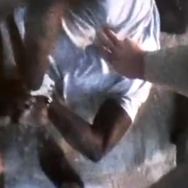 Byron Williams handcuffed by Metro Police