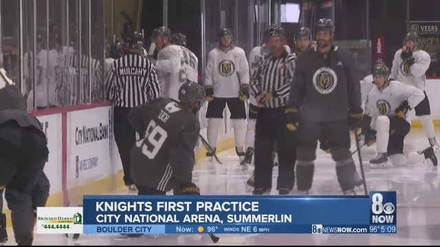 Golden Knights first practice brings energy, comradery