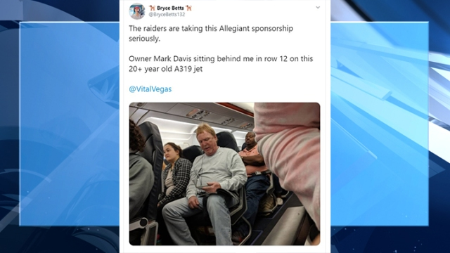 Raiders owner Mark Davis flies Allegiant Air, hilarious Tweets ensue