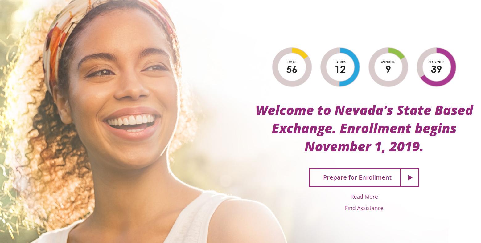 Nevada Health Link website