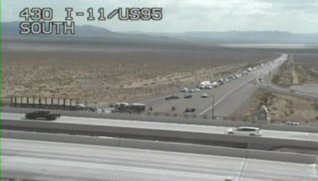 LIVE: I-11 northbound and southbound at US 95 closed due to fatal crash