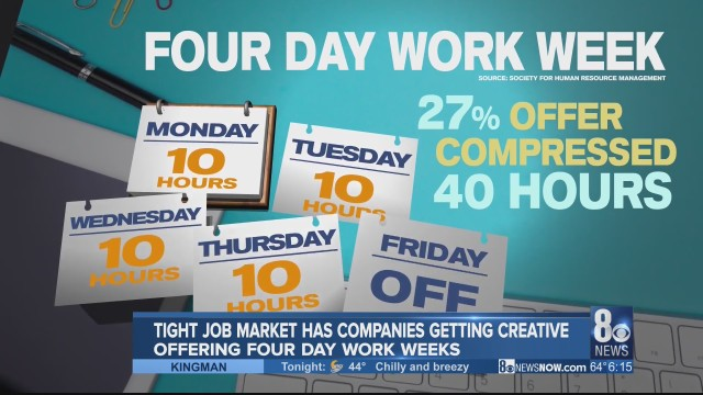 More companies offering 4-day work weeks to entice future employees
