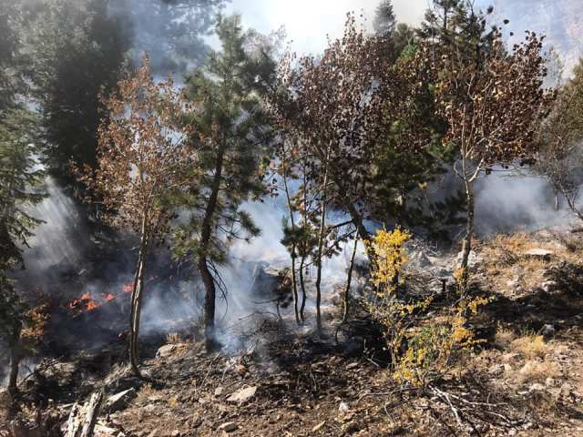 October Fire: Wildfire reported on Mount Charleston