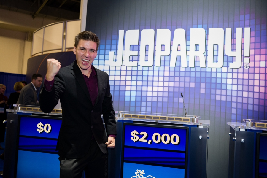 James Holzhauer attends global trade show to help launch new G2E 'Jeopardy!' slots