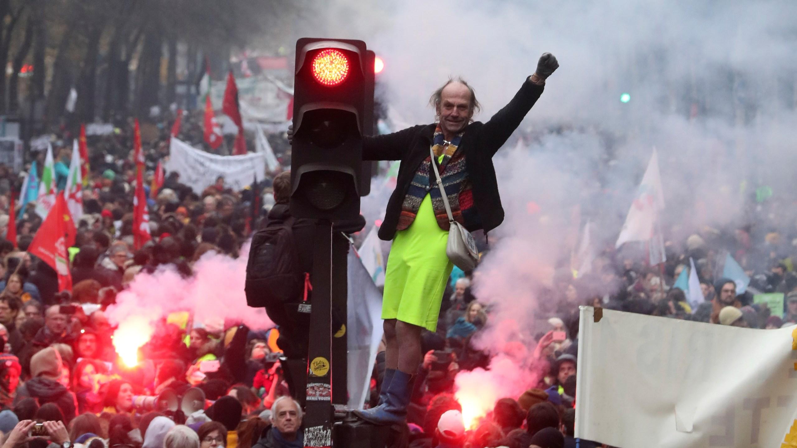 Image result for france general strike 5 december