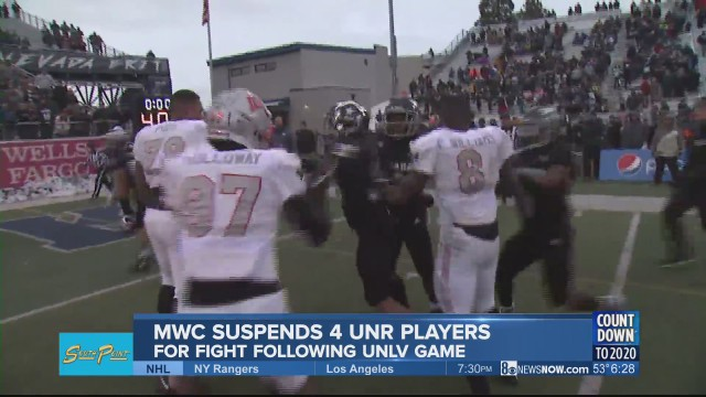 4 UNR football players suspended for fight during rival game; looking for fans involved