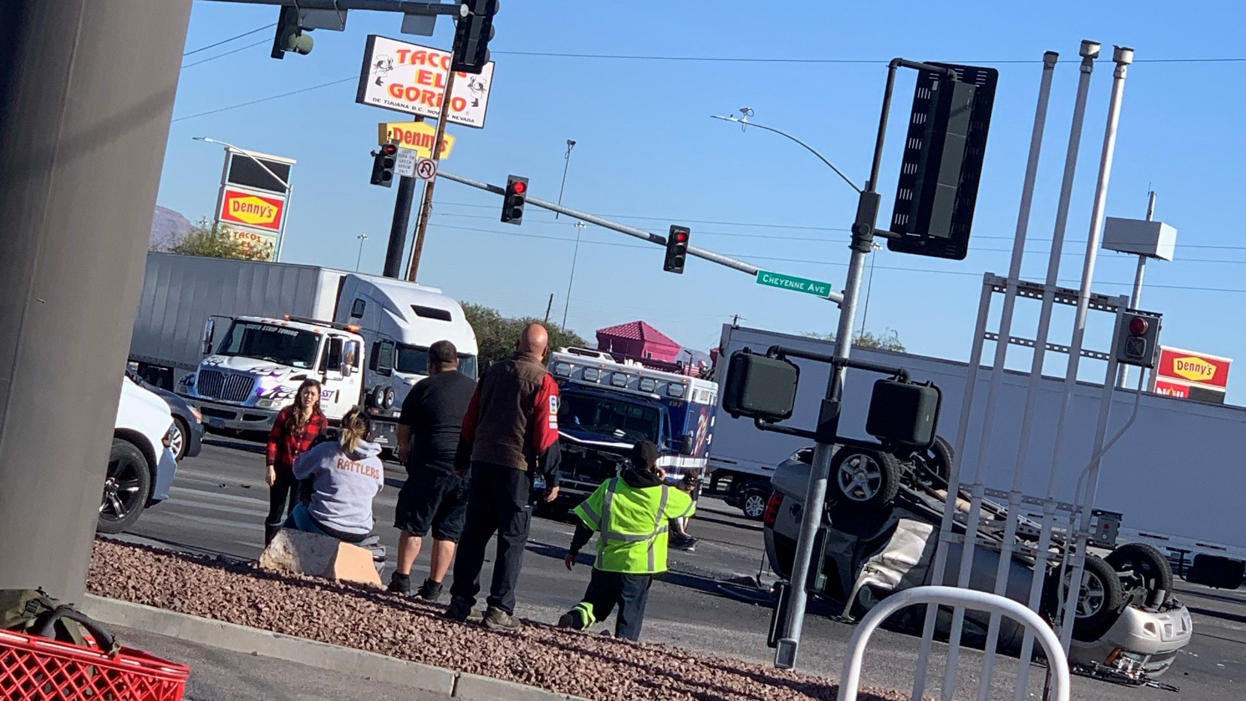 Ambulance and SUV crash in North Las Vegas; no serious injuries reported