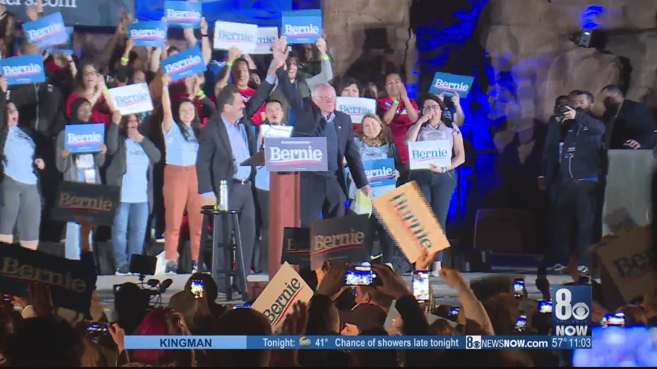 Bernie Sanders makes last push for voters on eve of Nevada caucus