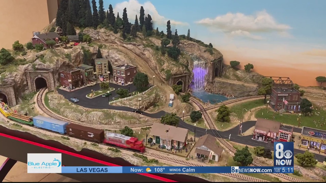 Criss Angel donates large-scale model train set to the Cure 4 The Kids Foundation