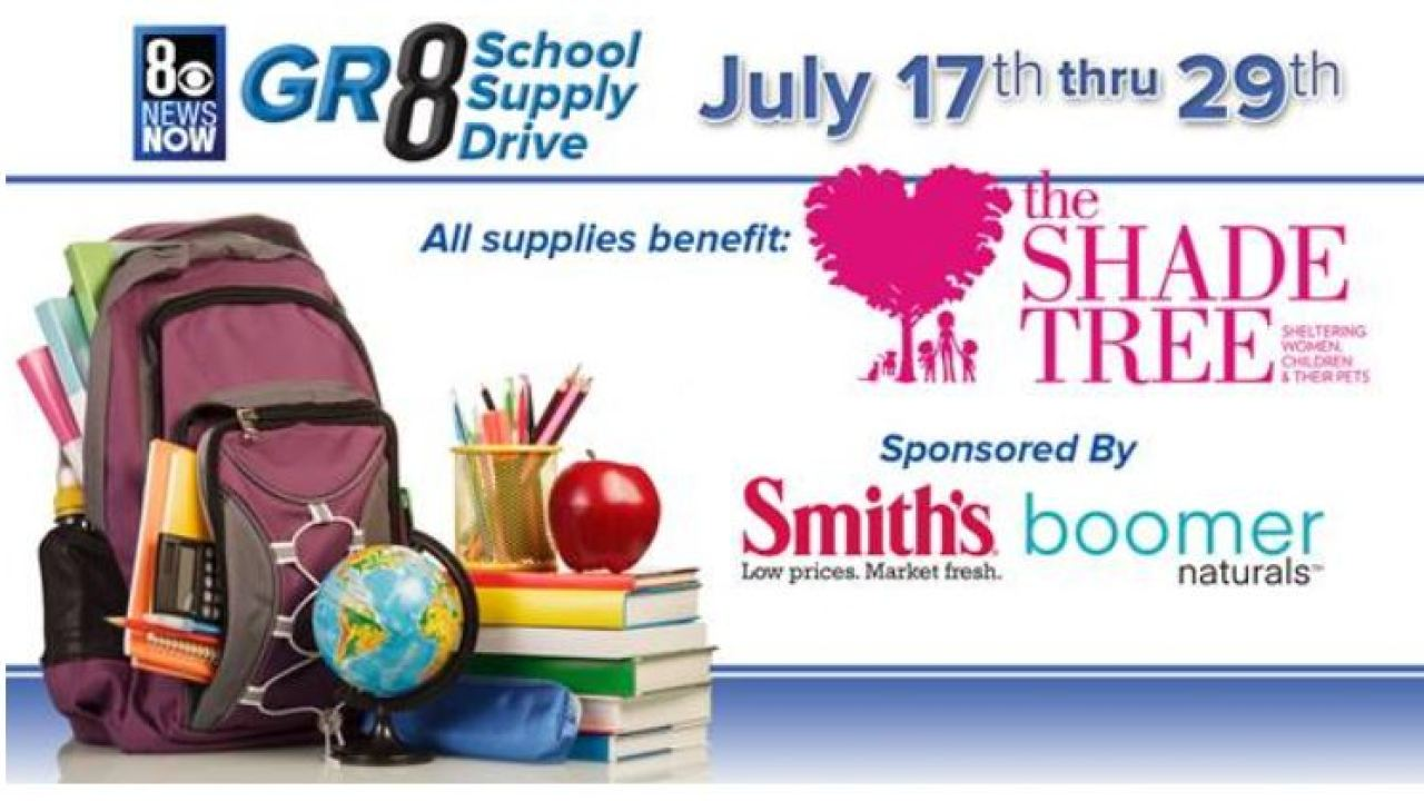 Time for 8 News Now's #GR8 School Supply Drive!