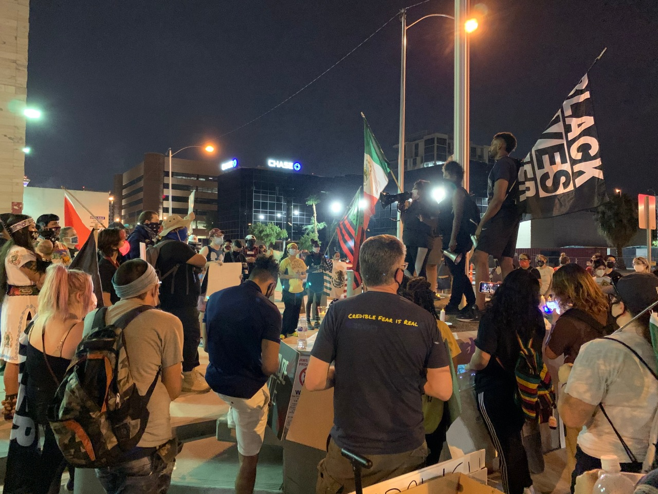 Protesters support immigrants, Black Lives Matter during march